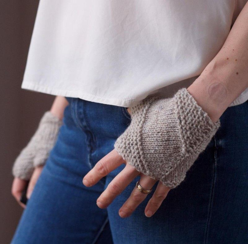 Strickmich Anleitung Fingerlose Handschuhe Tough Toasty