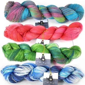 Schoppel Wolle Cat Print Hand-dye Collection 6 Karat