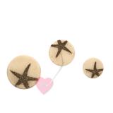 """Bonfanti Schmuckknopf """"Seestern"""" - Knopf mit Öse in Sandoptik in drei Größen erhältlich"""