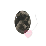 "Bonfanti Schmuckknopf ""Mädchenportrait"" 29mm - Kunststoff-Knopf mit Öse mit antikem Mädchenfoto"