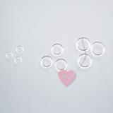 Transparente Kunststoffringe zum umhäkeln