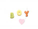 """Buchstabenhits für Kids 18mm - 2-Loch Knopf   """"B  """" Beispielbild  """"Boy """""""