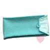 Schönes Etui aus türkisem Wollfilz mit niedlichem Webband - für Brille, Stifte oder Stricknadeln