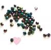 Feuerpolierte Glasschliffperlen 4mm in schimmernden metallic Farben: Purple Iris