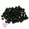 Feuerpolierte Glasschliffperlen 4mm in schimmernden metallic Farben Jet Black