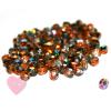 Feuerpolierte Glasschliffperlen 4mm in schimmernden metallic Farben Magic Copper