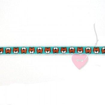 farbenmix Webband von Cherry Picking Tiger Karl, sky 12mm