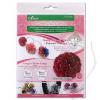 Clover Flower Frill Templates - Schablone für Stoff-Pompoms und Rüschenblüten groß und extragroß