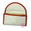 Handgenähte, faltbare Einkaufstasche - Brezen-Beutel mit Schmetterling gefaltet und geöffnet