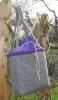 Musterbeispiel: Tasche aus grauem Wollfilz