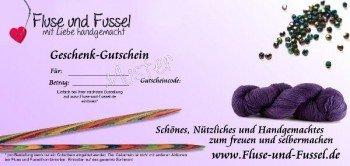 Fluse und Fussel Geschenk-Gutschein -damit schenken Sie Auswahl