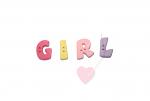 """Buchstabenhits für Kids 18mm - 2-Loch Knopf  """"L """" Beispielbild  """"Girl """""""