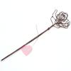 "Jim Knopf - kunstvolle Draht-Schalnadel  ""Rose "" in Kupfer"