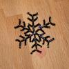 Jim Knopf - schwarzer Eiskristall aus Glasperlen Ø47mm