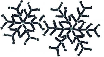 Jim Knopf - Eiskristall aus schwarzen Glasperlen Ø47mm