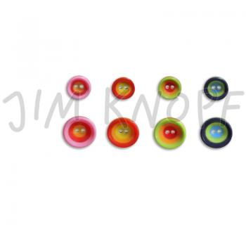 """Jim Knopf - 2-Loch-Knopf """"Bunte Kreise"""" in schönen Farben und zwei Größen"""