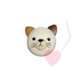 Jim Knopf - Katzenkopf-Knopf Ø18mm- Kätzchenkopf aus Holz mit Öse