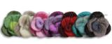 Jim Knopf - dreifarbige Filzrose Ø40mm in zauberhaften Farben