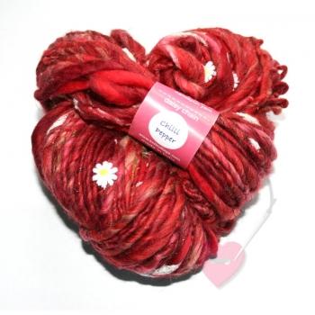 "Knit Collage - ""Daisy Chain"" handgesponnenes ArtYarn"