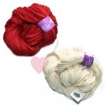"Knit Collage - ""Sister Yarn"" handgesponnen"