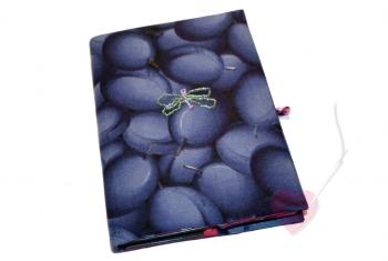 Handgenähte Notiz- und Tagebuchhülle mit kleiner Libelle - Notizbuch in A5
