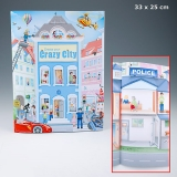 Create your Crazy City Malbuch mit vielen Stickern