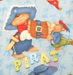 """Buchstabenhits für Kids 18mm - 2-Loch Knopf  """"T """" Beispielbild  """"Pirat """""""