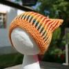 Musterbeispiel kunterbunte Pixie-Mütze mit Reggae Uni in Bernstein, Reggae ombré kleiner Fuchs