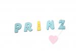 """Buchstabenhits für Kids 18mm - 2-Loch Knopf   """"I  """" Beispielbild   """"Prinz """""""