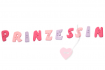 """Buchstabenhits für Kids 18mm - 2-Loch Knopf   """"S  """" Beispielbild   """"Prinzessin  """""""