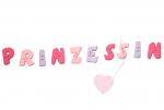 """Buchstabenhits für Kids 18mm - 2-Loch Knopf  """"I """" Beispielbild  """"Prinzessin """""""