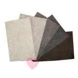 Wollfilz aus 100% Wolle 1mm in 10 Naturtönen in 20x30cm Platten