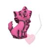 Kätzchenknopf 23mm - Katzen-Knopf mit Öse matt pink