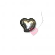 Herzknopf mit Öse in zwei Größen - nicht nur für die Trachten