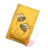 """Smartphonetasche für Blackberry oder iPhone  """"Be(e) """" aus gelbem Wollfilz"""