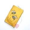 """Smartphonetasche """"Be(e)"""" aus gelbem Wollfilz"""