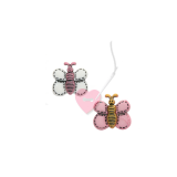 Süßer Schmetterling - Schmetterlingsknopf mit Öse 18mm