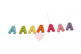 """Buchstabenhits für Kids 18mm - 2-Loch Knopf """"A"""""""