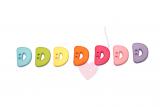 """Buchstabenhits für Kids 18mm - 2-Loch Knopf """"D"""""""