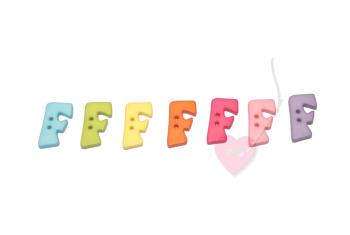 """Buchstabenhits für Kids 18mm - 2-Loch Knopf """"F"""""""
