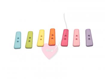 """Buchstabenhits für Kids 18mm - 2-Loch Knopf """"I"""""""