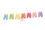 """Buchstabenhits für Kids 18mm - 2-Loch Knopf """"N"""""""