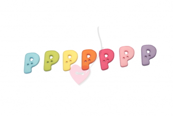 """Buchstabenhits für Kids 18mm - 2-Loch Knopf """"P"""""""