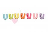 """Buchstabenhits für Kids 18mm - 2-Loch Knopf """"U"""""""