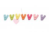 """Buchstabenhits für Kids 18mm - 2-Loch Knopf """"V"""""""