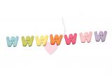 """Buchstabenhits für Kids 18mm - 2-Loch Knopf """"W"""""""
