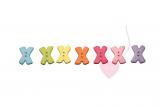 """Buchstabenhits für Kids 18mm - 2-Loch Knopf """"X"""""""