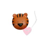 Safariknopf Tigergesicht 20mm - Knopf mit Öse