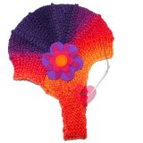 Baby-Mütze aus Merinowolle mit Filz-Blüte ab ca. 6 Monate