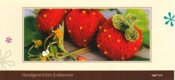 """Postkartenanleitung """"Erdbeeren"""" aus dem Strickatelier capstatt"""